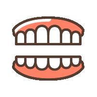 """義歯(入れ歯)<br><span class=""""pink"""">入れ歯が合わない<br>痛い</span>"""