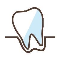 """歯周病<br><span class=""""pink"""">歯茎の出血<br>グラグラが気になる</span>"""